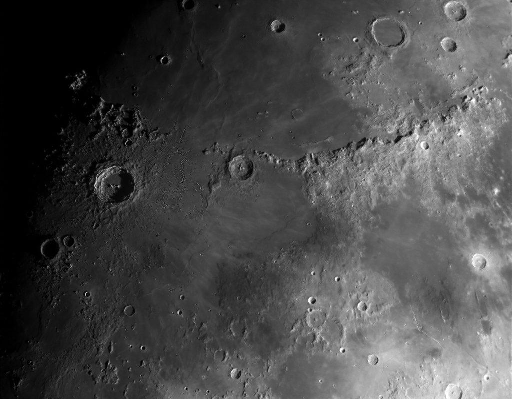 Кратеры Коперник, Эратосфен и горы Апеннины