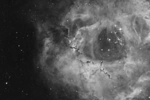 """Туманность NGC 2237 """"Розетка"""" через H-alpha фильтр"""