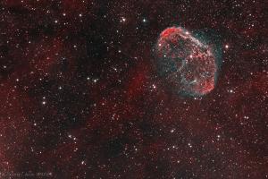 "Туманность NGC 6888 ""Полумесяц"", биколор"