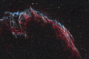 """Туманность NGC 6992 """"Рыбачья сеть"""", биколор"""