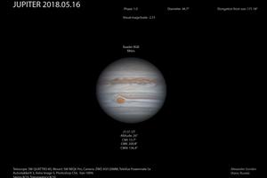 Юпитер 16 мая 2018 года
