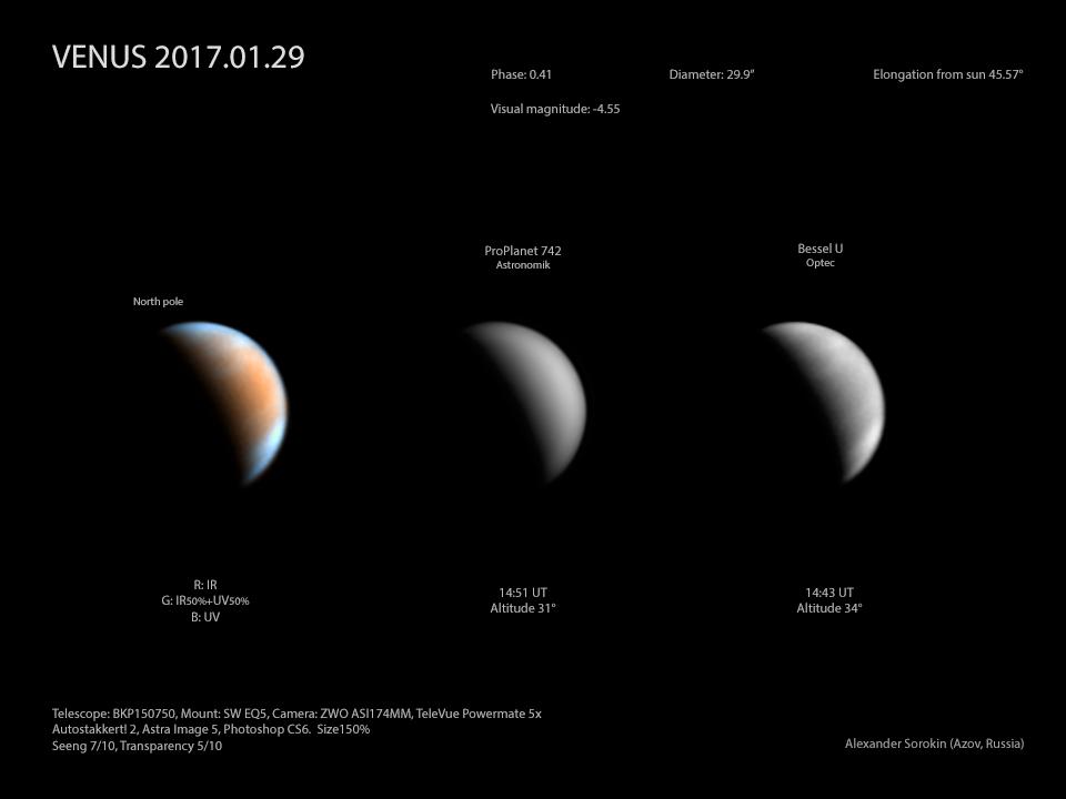 Венера 29 января 2017