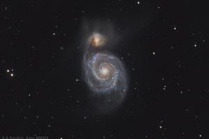 """Галактика M 51 """"Водоворот"""""""